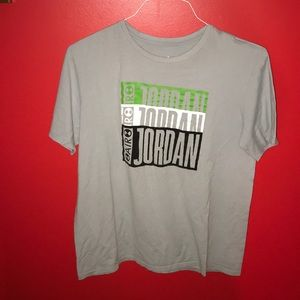 Jordan black and gray t shirt